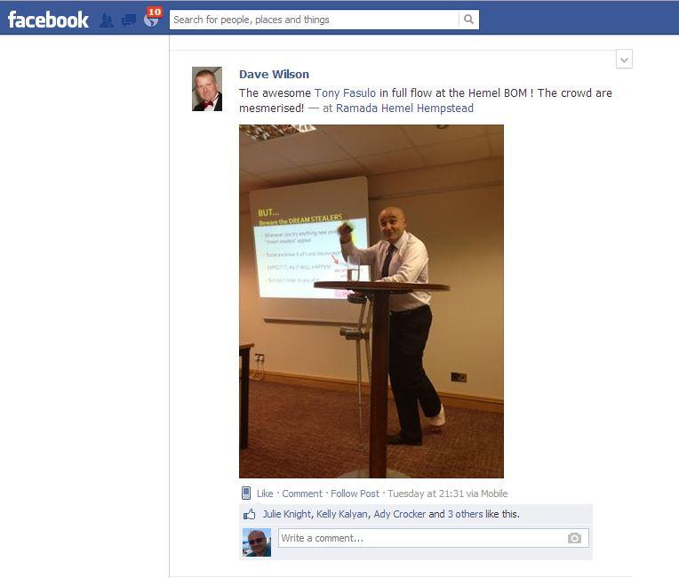 Me speaking at Hemel BOM 23Jul2013 - 01