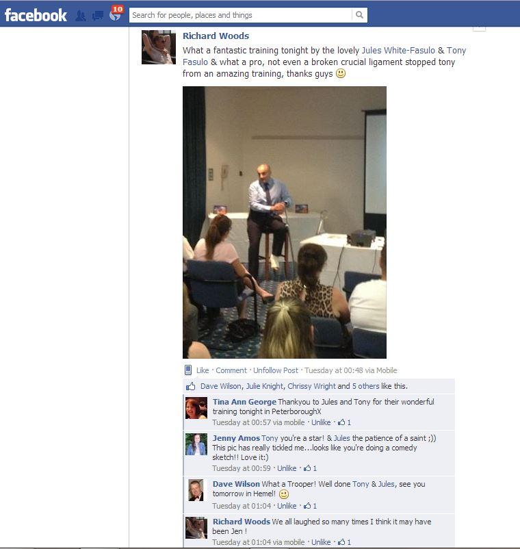Me speaking at Peterborough BOM 22Jul2013